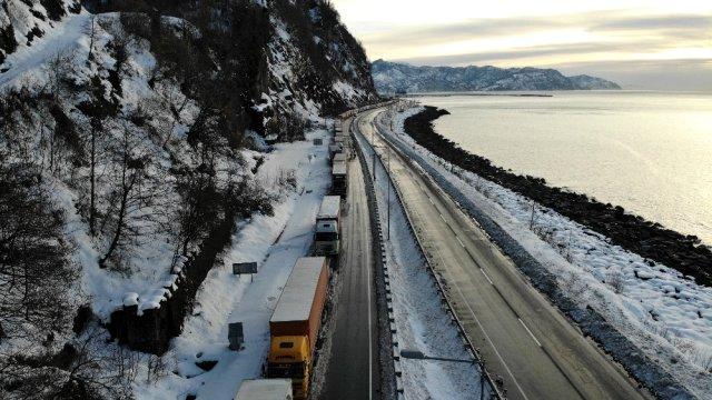 TIR sürücüsünün kış çilesi gümrükle katlandı