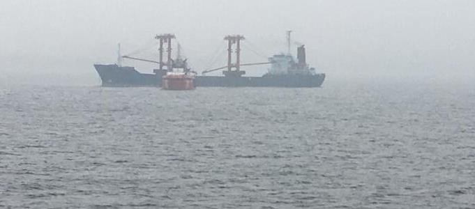 Çanakkale Boğazı'nda gemi yangını