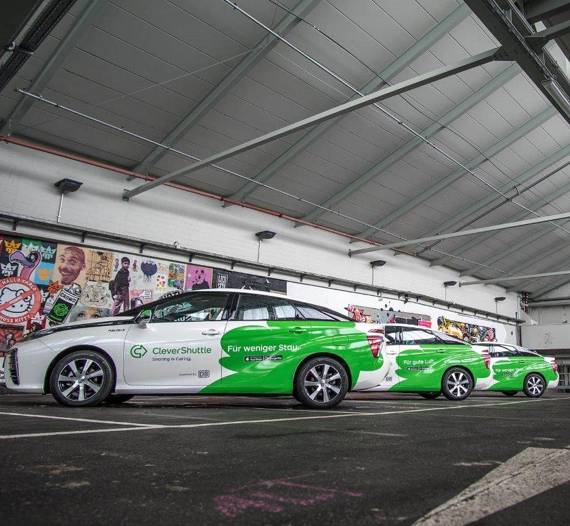 CleverShuttle, Toyota Mirai ile 5 milyon km yol yaptı