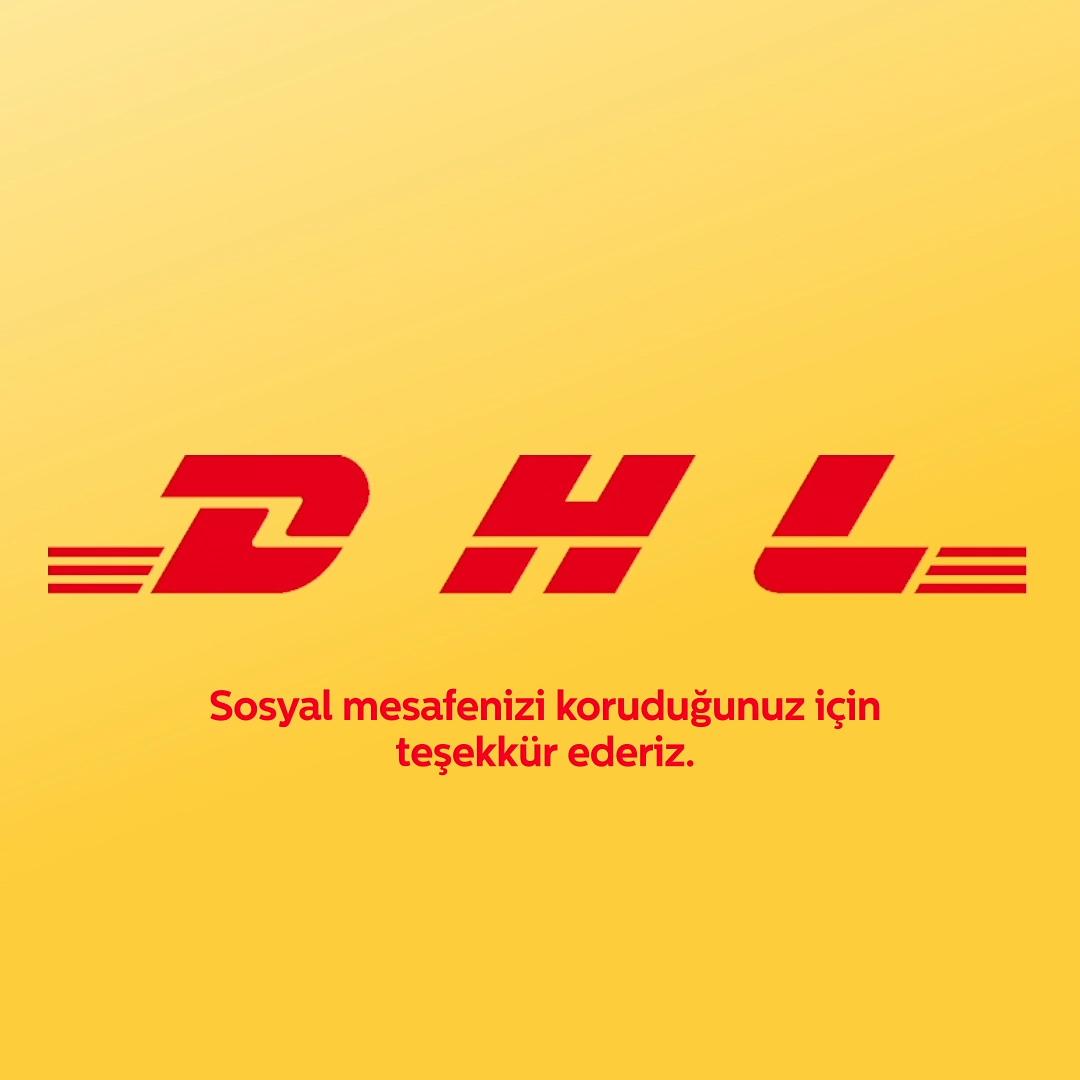 DHL logosunda sosyal mesafe değişikliği