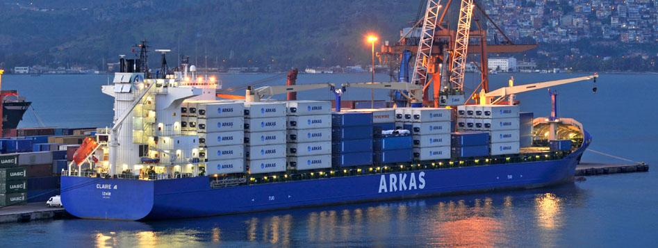 Karadeniz'e taze yükler Arkas Line ile ulaşıyor