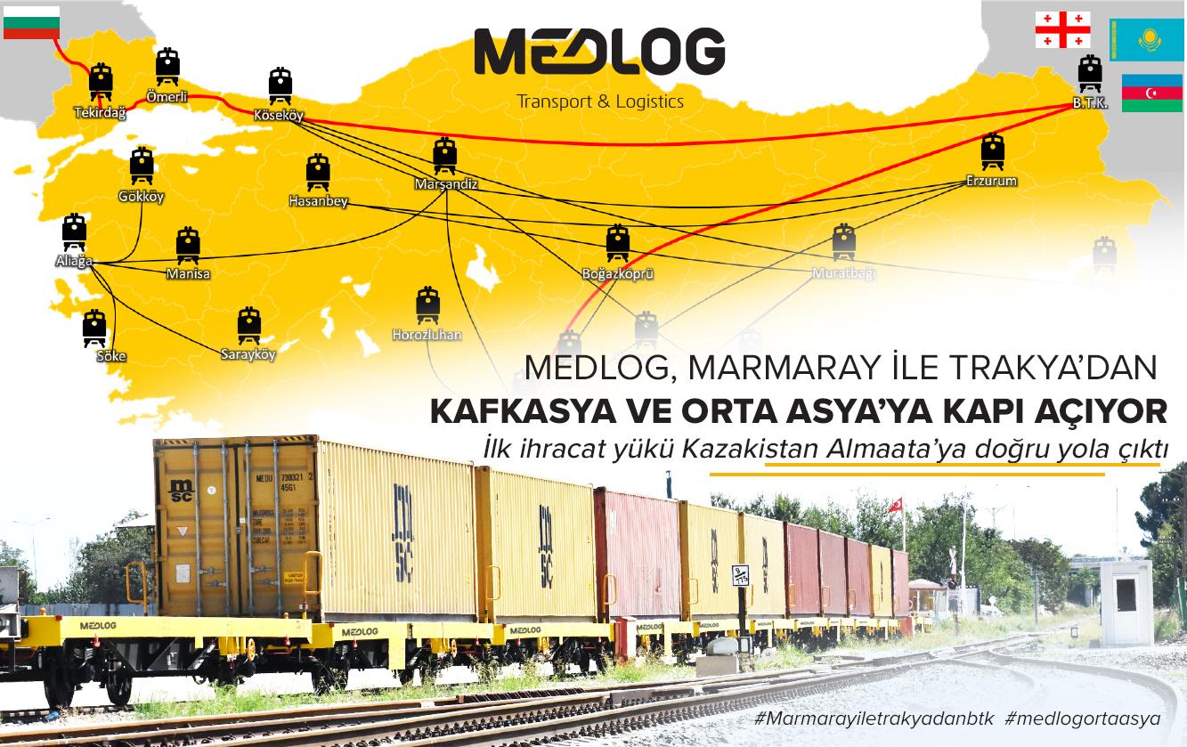 MEDLOG, 5 milyon ton yükü Marmaray'a taşıyacak