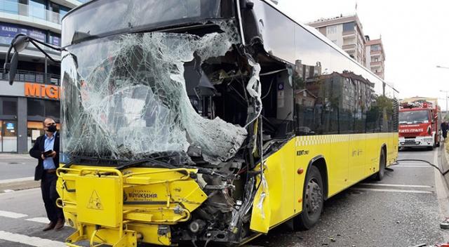 İETT otobüsü ile tanker çarpıştı: Yaralılar var