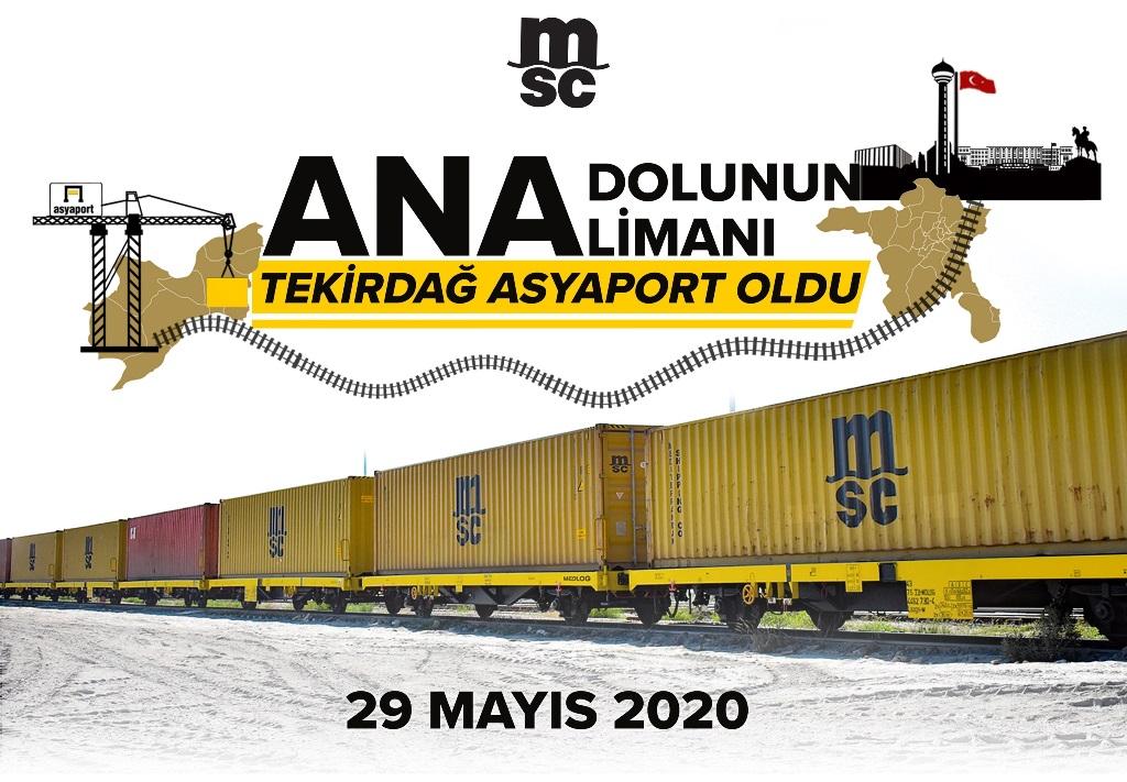 Anadolu'nun ana limanı ASYAPORT oldu