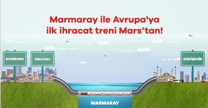 Mars Logistics: Marmaray ile ilk blok treni biz kaldırdık