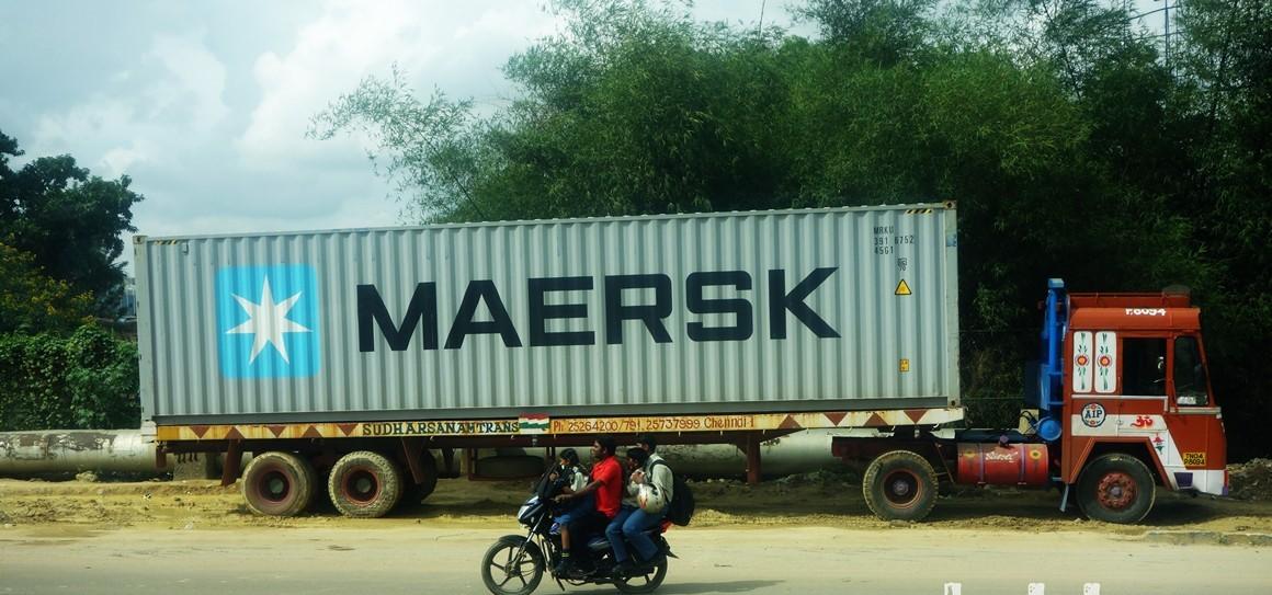 Maersk, Hindistan'a kamyonları demiryoluyla ulaştırıyor