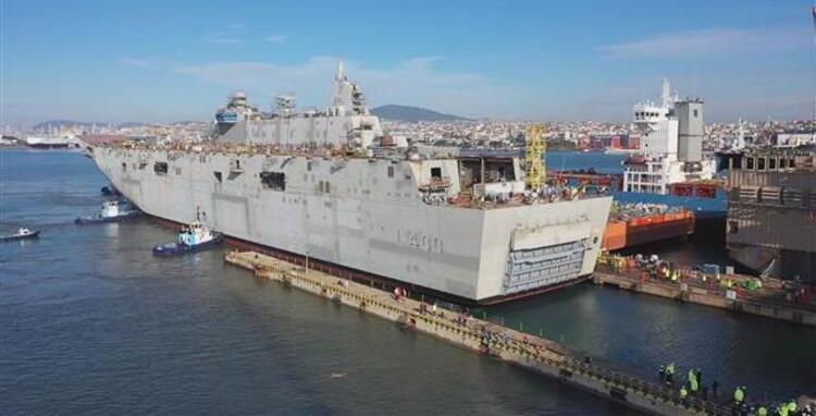 Türkiye'de üretilen en büyük gemi: Yüzen kışla Anadolu