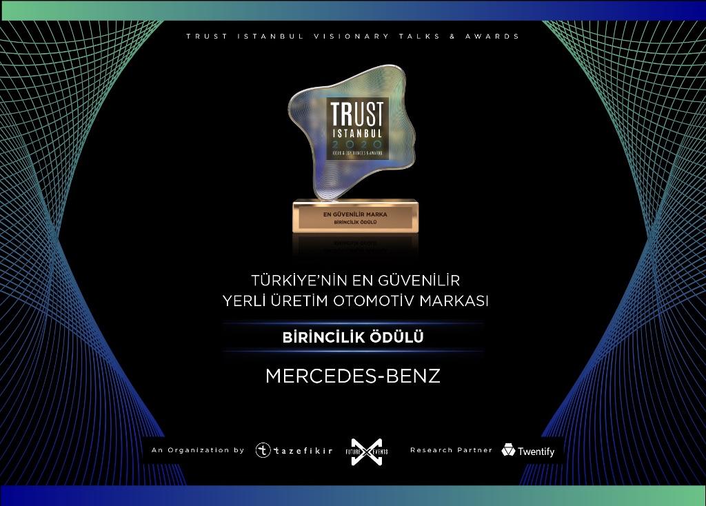 Mercedes, Türkiye'nin En Güvenilir Yerli Üretim Otomotiv Markası