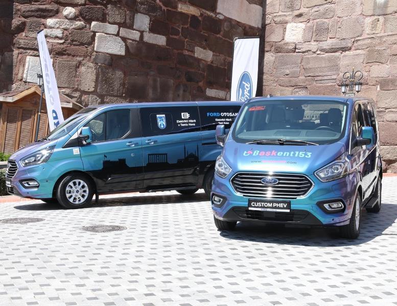 İlk ve tek yerli, hibrit elektrikli ticari araç Custom PHEV Ankara'da