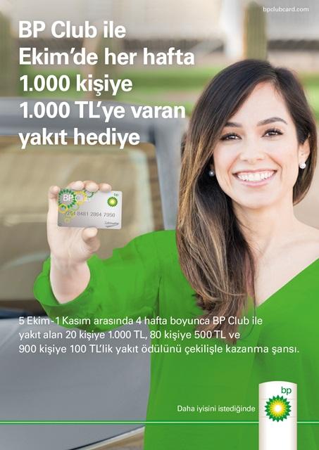 BP'den her hafta bin kişiye bin TL yakıt hediye