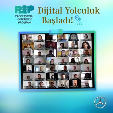 """Mercedes'ten PEP katılımcılarına """"Dijital Yolculuk"""" uygulaması"""