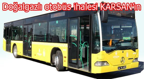 Doğalgazlı otobüs ihalesi KARSAN'ın