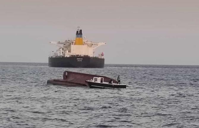 Yunan tankeri ile Türk balıkçı teknesi çarpıştı