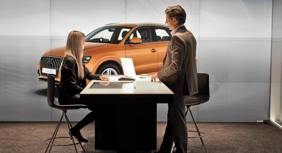 Audi'den şehir merkezinde sanal Showroom