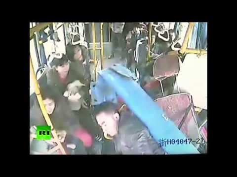 Çin'de inanılmaz trafik kazası