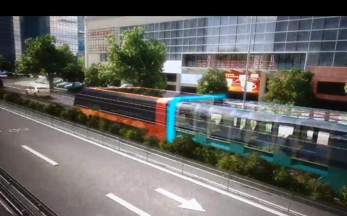 Alt geçitli metrobüs sistemi