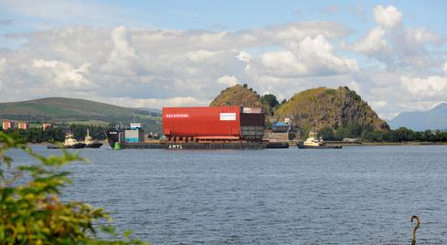 Huge Section of HMS Prince of Wales Arrives in Rosyth