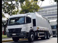 Brezilya sokaklarını Allison donanımlı Mercedes'ler temizliyor