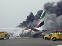 Emirates uçağı alev alev yandı. İşte o anlar!