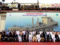 En büyük askeri proje denize indi