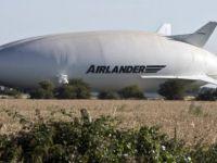 Dünyanın en büyük hava aracı kaza yaptı! İşte o anlar
