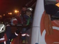 Virajı alamayan yolcu otobüsü ölüm getirdi
