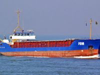 Türk gemisi Ereğli açıklarında yan yattı