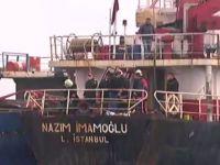 M/V Nazım Imamoglu adlı gemide yangın çıktı
