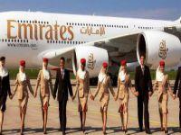 Emirates'te plastikten üretilen battaniye