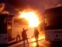 Uyuşturucu taşımayı reddeden 4 otobüsü yaktılar