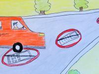 Çocuklar trafikte sorumluluğu resimle anlattı