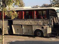 Servis aracına bombalı saldırı