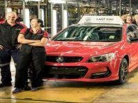 Avustralya'da otomobil üretilmi sona erdi