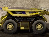 Komatsu'dan sürücüsüz yük kamyonu