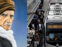 """Metrobüslerde """"Nurculuk"""" propagandası"""