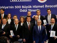 """""""Türkiye'nin 500 Büyük Hizmet İhracatçısı"""" ödül töreni"""