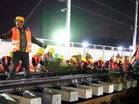 9 saatte tren istasyonu inşa ettiler
