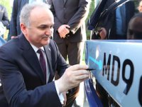 Faruk Özlü Temsa'nın ilk elektrikli otobüsünü test etti
