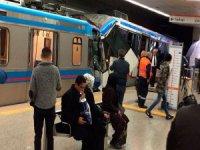Topçular istasyonunda tramvaylar çarpıştı!