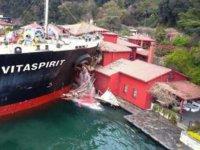 Yalıya çarpan gemiye haciz kararı