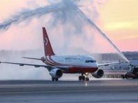 Erdoğan, İstanbul Yeni Havalimanı'na ilk inişi gerçekleştirdi