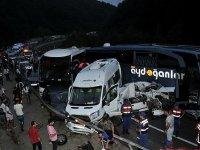 İnegöl'de feci kaza: 31 araç birbirine girdi