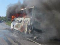 """Yanan otobüsten """"tazminat"""" çıktı"""