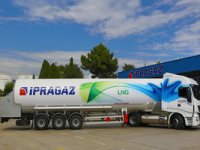 İpragaz'ın filosuna kattığı ilk LNG'li çekicisi Türkiye yollarında