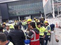 3 havalimanı işçileri iş bıraktı