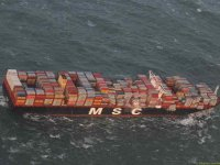 MSC ship loses containers overboard in North Sea storm