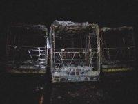 Tekirdağ'da 3 otobüs alev alev yandı