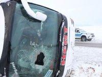 Kayseri'de yolcu otobüsü devrildi: Ambulanslar olay yerinde