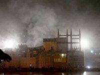Tuzla'da askeri gemide yangın çıktı