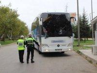 Şehirlerarası yolcu otobüsleri denetleniyor